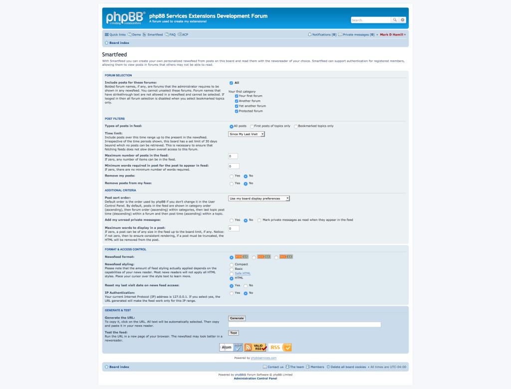 Smartfeed 3.0.1 User Interface