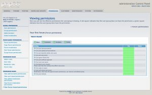 View permissions page