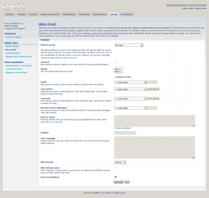 Selective mass emails, version 1.0.3