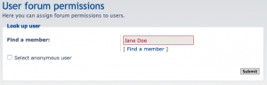 User forum permissions, pick user